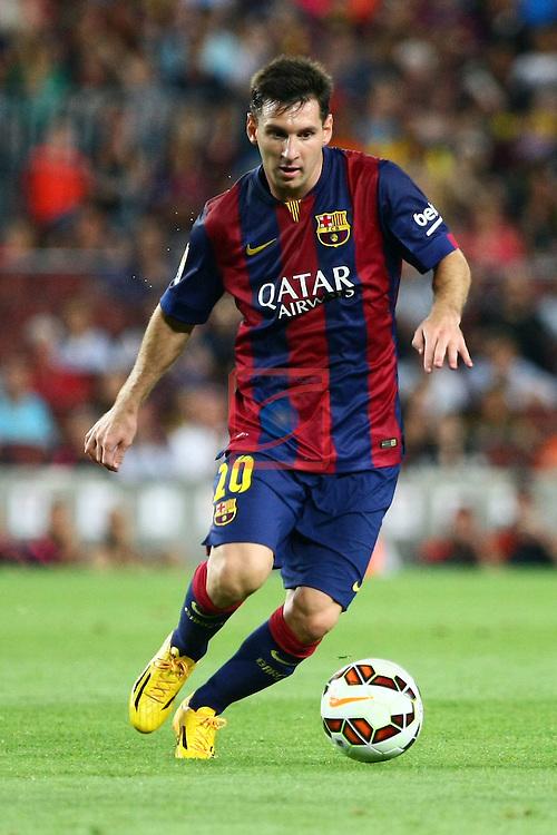 49e Trofeu Joan Gamper.<br /> FC Barcelona vs Club Leon FC: 6-0.<br /> Lionel Messi.