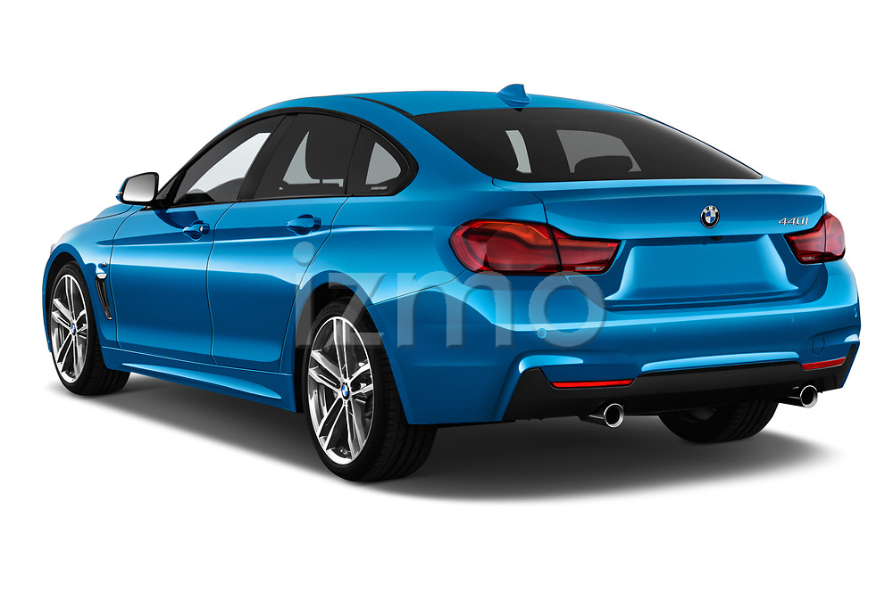 Car pictures of rear three quarter view of 2017 BMW 4 Series Gran Coupe M Sport 5 Door Hatchback angular rear