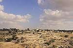 Israel, Shephelah, Palestinian village Beit Mirsim as seen from Tel Beit Mirsim