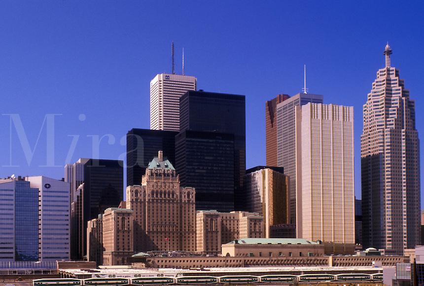 Toronto, Canada, Ontario, Skyline of downtown Toronto.