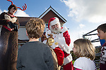 Redrow Homes<br /> Father Christmas visit to Mon Bank Development.<br /> 22.11.14<br /> &copy;Steve Pope -FOTOWALES