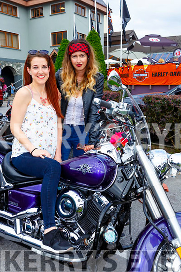 Kamila Kdobak and Viktoria Vegso Killarney at Bike fest in Killarney on Sunday