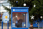A programme seller smiles before Leicester City play Everton in the Premier League match at the King Power Stadium, Leicester. Picture date: 1st December 2019. Picture credit should read: Darren Staples/Sportimage