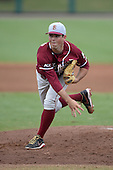 Florida State Seminoles pitcher Kenny Burkhead (36) during a game against the South Florida Bulls on March 5, 2014 at Red McEwen Field in Tampa, Florida.  Florida State defeated South Florida 4-1.  (Copyright Mike Janes Photography)
