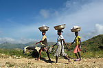 Women walk to the market in Les Palmes, a rural village in southern Haiti where the Lutheran World Federation has been working with survivors of the 2010 earthquake, along with other residents, to experience more abundant life.