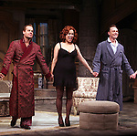 PaAdam James, Jennifer Tilly, Ben Daniels.during the Opening Night Curtain Call for the Roundabout Theatre Company's Broadway Production of 'Don't Dress For Dinner' at the American Airlines Theater on 4/26/2012 in New York City.