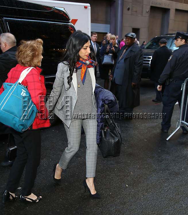 Huma Abedin attends the Broadway Opening Night Performance of 'War Paint' at the Nederlander Theatre on April 6, 2017 in New York City
