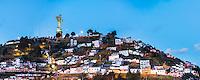 Statue of the Virgin of Quito at night, El Panecillo Hill Statue, City of Quito, Ecuador, South America