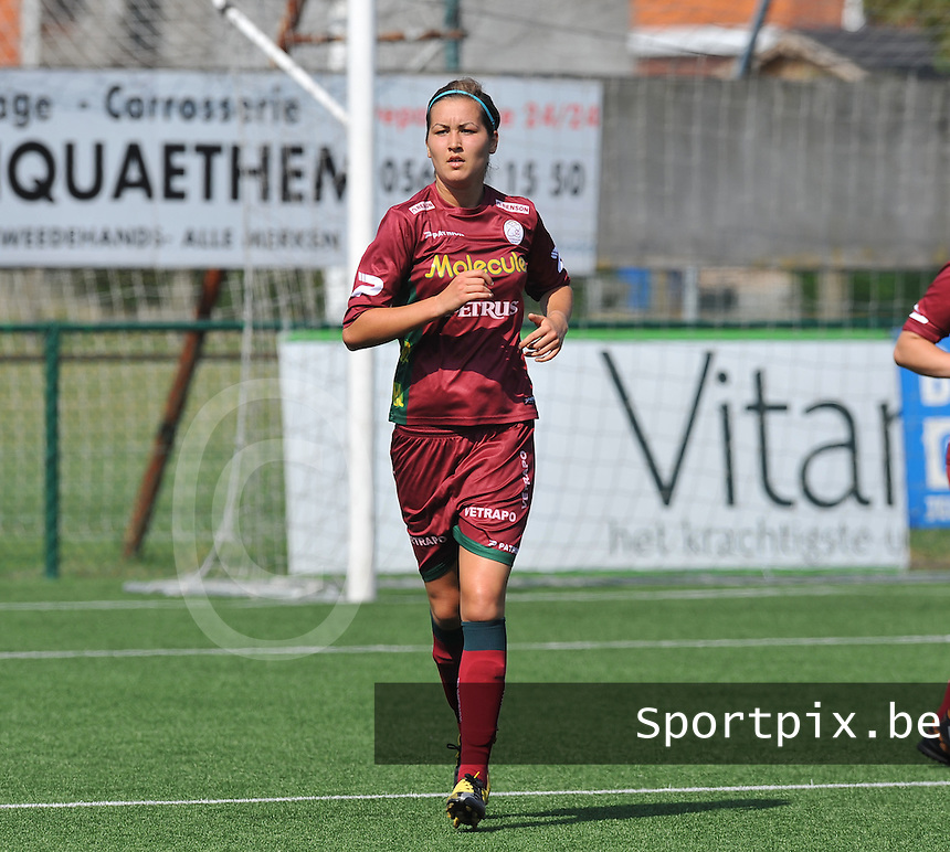 Dames Zulte - Waregem : Helene Delebarre.foto DAVID CATRY  / Vrouwenteam.be.
