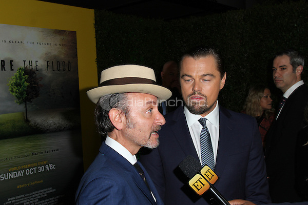 LOS ANGELES, CA - OCTOBER 24: Leonardo DiCaprio, Fisher Stevens attends the Screening of National Geographic Channel's 'Before The Flood' at Bing Theater At LACMA on October 24, 2016 in Los Angeles, California. (Credit: Parisa Afsahi/MediaPunch).