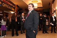 NEW YORK, NY - Sunday February 21, 2016: Costa Rica National Team Head Coach Oscar Ramirez and other guests arrive during the Copa America Centenario draw ceremony at the Hammerstein Ballroom in midtown Manhattan, New York City.
