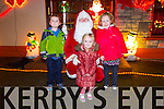 Pictured at the official turning on of Tony Noonan's charity christmas lights by Santa on Friday night in Templeglantine was L-R: Ryan and Shola O'Donnell and Amy Gleeson, Abbeyfeale.