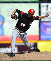 Richmond Flying Squirrels pitcher Phil McCormick (29) during game against the Trenton Thunder at ARM & HAMMER Park on June 9 2013 in Trenton, NJ.  Trenton defeated Richmond 3-2.  Tomasso DeRosa/Four Seam Images