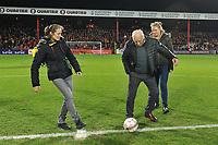 KV KORTRIJK - CERCLE BRUGGE :<br /> Beelden voor de wedstrijd en aan de aftrap met Delfine Persoon en Jules Verriest<br /> <br /> Foto VDB / Bart Vandenbroucke