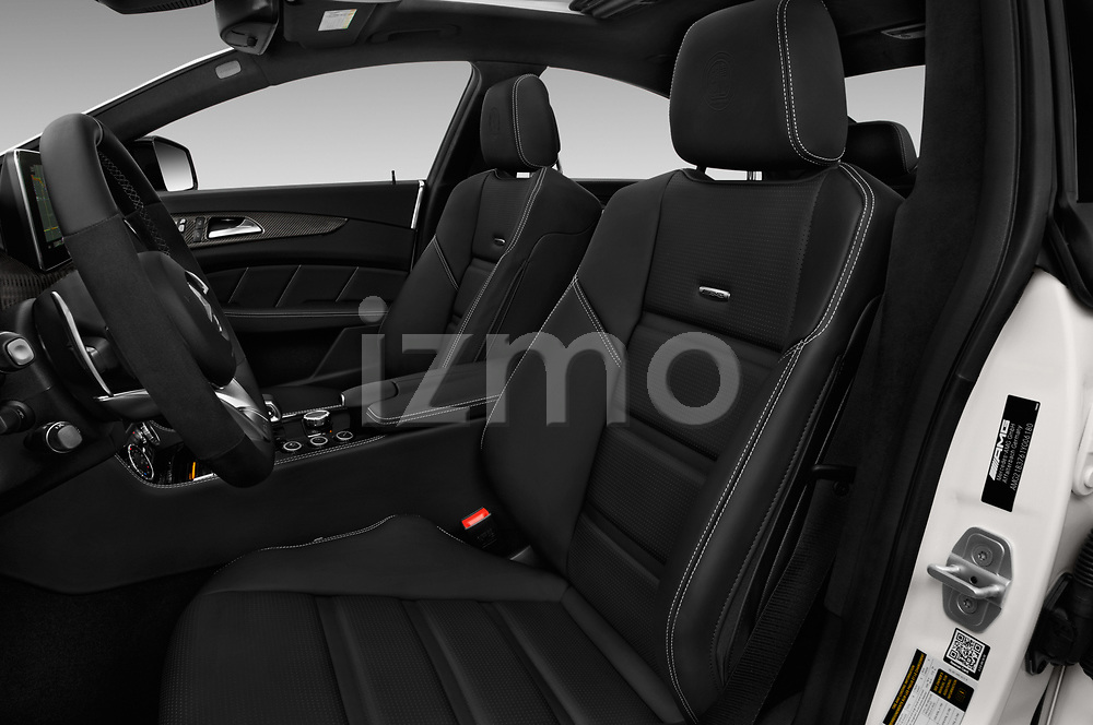 Front seat view of 2018 Mercedes Benz CLS-Class AMG-CLS63-4MATIC 4 Door Sedan Front Seat  car photos
