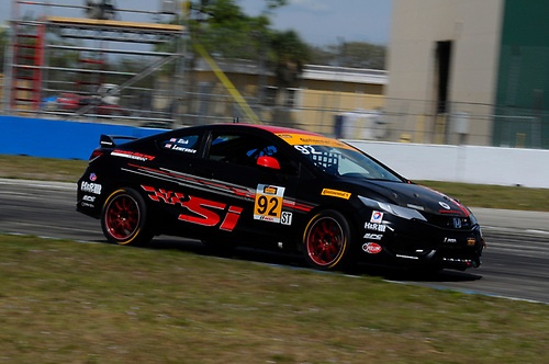 16-18 March, 2016, Sebring, Florida, USA<br /> #92 Cameron Lawrence, Steve Eich, Honda Civic Si<br /> © 2016, Jay Bonvouloir, ESCP
