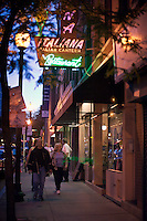 Italian restaurants on Hanover Street in the Italian District, north end, Boston, M