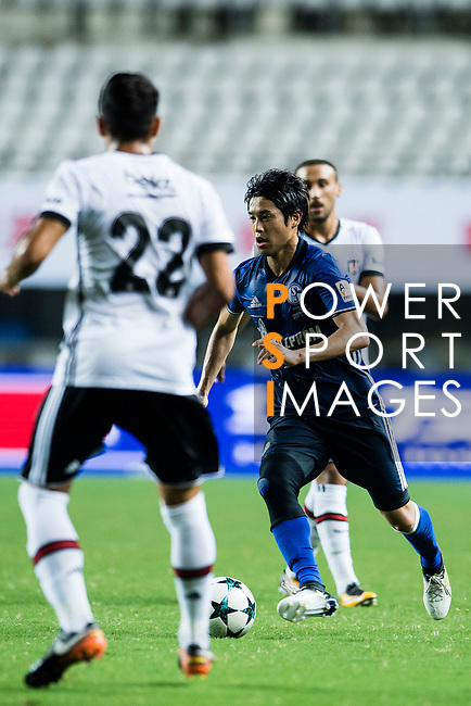 FC Schalke Defender Atsuto Uchida (R) in action during the Friendly Football Matches Summer 2017 between FC Schalke 04 Vs Besiktas Istanbul at Zhuhai Sport Center Stadium on July 19, 2017 in Zhuhai, China. Photo by Marcio Rodrigo Machado / Power Sport Images