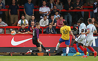 Lucas Paqueta (10) of Brazil scores the opening goal during the International match between England U20 and Brazil U20 at the Aggborough Stadium, Kidderminster, England on 4 September 2016. Photo by Andy Rowland / PRiME Media Images.