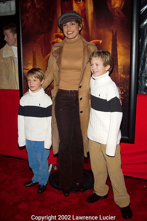 Mariska Hargitay with godsons Dylan and Conor McDermott