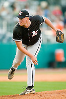 Kannapolis relief pitcher John Wesley (39) closes out Greensboro for his fifth save of the season at First Horizon Park in Greensboro, NC, Sunday, May 27, 2007.  The Intimidators defeated the Grasshoppers 6-5.
