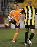 28 March 2007: Houston's Stuart Holden (left) controls the ball in front of Charleston's Lazo Alavanja (8). The Houston Dynamo tied the Charleston Battery 1-1 at Blackbaud Stadium in Charleston, South Carolina in a Carolina Challenge Cup preseason match.