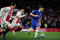 Mateo Kovacic of Chelsea races upfield during Chelsea vs AFC Ajax, UEFA Champions League Football at Stamford Bridge on 5th November 2019