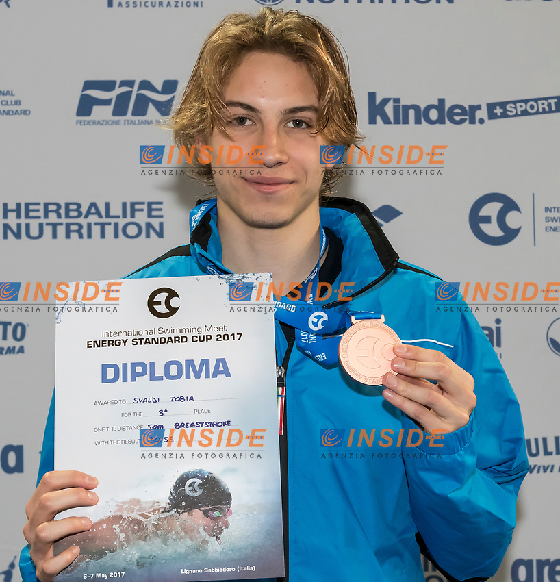Youth Boys' 50m Breaststroke <br /> SVALDI Tobia ITALY Bronze Medal <br /> Lignano Sabbiadoro 07-05-2017 Ge.Tur Complex <br /> Energy Standard Cup 2017 Nuoto<br /> Photo Andrea Staccioli/Deepbluemedia/Insidefoto