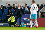 Newcastle manager Rafa Benitez looks on during the Barclays Premier League match at The King Power Stadium.  Photo credit should read: Malcolm Couzens/Sportimage