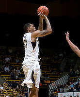 Allen Crabbe of California shoots the ball during the game against George Washington at Haas Pavilion in Berkeley, California on November 13th, 2011.  California defeated George Washington, 81-54.