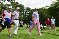 Ian Poulter (GBR) and Brandon Grace (RSA) head down 3 during round 4 of the 2019 Charles Schwab Challenge, Colonial Country Club, Ft. Worth, Texas,  USA. 5/26/2019.<br /> Picture: Golffile | Ken Murray<br /> <br /> All photo usage must carry mandatory copyright credit (© Golffile | Ken Murray)