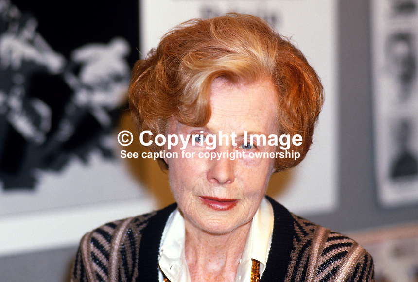 Barbara Castle, MEP, Labour Party, UK, 19870940BC2..Copyright Image from Victor Patterson, 54 Dorchester Park, Belfast, UK, BT9 6RJ..Tel: +44 28 9066 1296.Mob: +44 7802 353836.Voicemail +44 20 8816 7153.Skype: victorpattersonbelfast.Email: victorpatterson@me.com.Email: victorpatterson@ireland.com (back-up)..IMPORTANT: If you wish to use this image or any other of my images please go to www.victorpatterson.com and click on the Terms & Conditions. Then contact me by email or phone with the reference number(s) of the image(s) concerned.