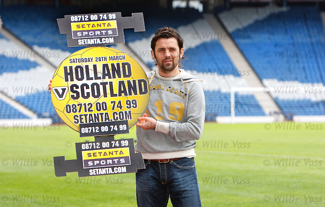 Scotland midfielder Paul Hartley at Hampden to promote Setanta's coverage of the Holland v Scotland match next weekend