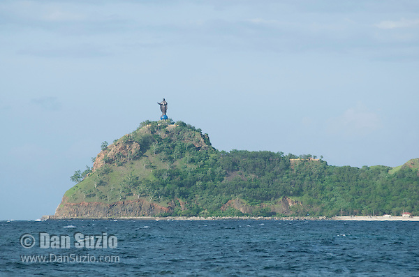 Statue of Jesus Christ at Cape Fatucama, east of Dili, Timor-Leste (East Timor)