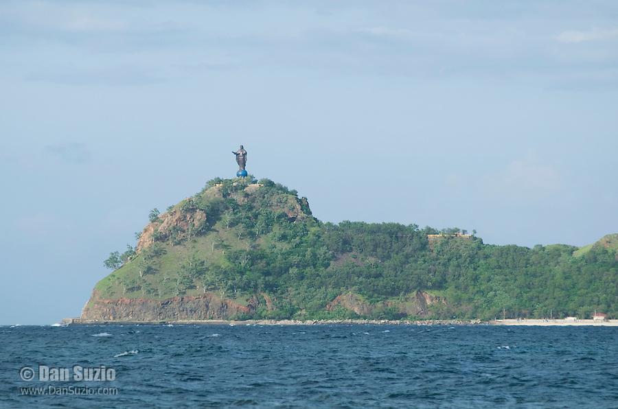 Statue of Jesus Christ at Cape Fatucama, east of Dili, Timor-Leste (East Timor)