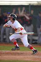 Illinois State Redbirds Caleb Ratzman (8) during a game against the Bucknell Bison on March 8, 2015 at North Charlotte Regional Park in Port Charlotte, Florida.  Bucknell defeated Illinois State 13-8.  (Mike Janes Photography)