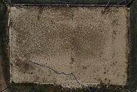 Torino 25 April 2020<br /> <br /> Beach volley pitch <br /> Aerial views of empty sports fields, in the city of Turin and its province, due to the total lockdown imposed by the Italian government at all levels of sports for the Coronavirus pandemic (covid19) in 2020. <br /> <br /> Viste col drone di campi sportivi della città di Torino e della sua provincia deserti, nel weekend ed in settimana a causa del lockdown totale imposto dal governo Italiano dello sport a tutti i livelli per la pandemia del Coronavirus (covid19). <br /> <br /> Photo: Federico Tardito / Insidefoto