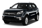 2017 Ssangyong Korando Quartz 5 Door SUV angular front stock photos of front three quarter view