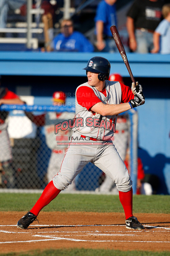 August 5, 2009:  First Baseman Sam Honeck of the Brooklyn Cyclones during a game at Dwyer Stadium in Batavia, NY.  The Cyclones are the Short-Season Class-A affiliate of the New York Mets.  Photo By Mike Janes/Four Seam Images