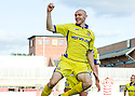 25/09/2010   Copyright  Pic : James Stewart.sct_jsp013_hamilton_v_kilmarnock  .::  CONOR SAMMON CELEBRATES AFTER HE  SCORES KILMARNOCK'S LATE EQUALISER  ::.James Stewart Photography 19 Carronlea Drive, Falkirk. FK2 8DN      Vat Reg No. 607 6932 25.Telephone      : +44 (0)1324 570291 .Mobile              : +44 (0)7721 416997.E-mail  :  jim@jspa.co.uk.If you require further information then contact Jim Stewart on any of the numbers above.........
