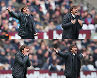 Antonio Conte of Chelsea, during the Premier League match between West ham and Chelsea, played at London Stadium, London on 9 Dec 2017
