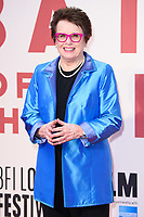 "Billie Jean King<br /> arriving for the London Film Festival 2017 screening of ""Battle of the Sexes"" at the Odeon Leicester Square, London<br /> <br /> <br /> ©Ash Knotek  D3322  07/10/2017"