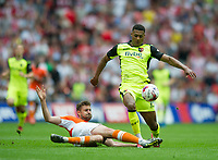Exeter's Ollie Watkins during the Sky Bet League 2 PLAY OFF FINAL match between Exeter City and Blackpool at Wembley Stadium, London, England on 28 May 2017. Photo by Andrew Aleksiejczuk.
