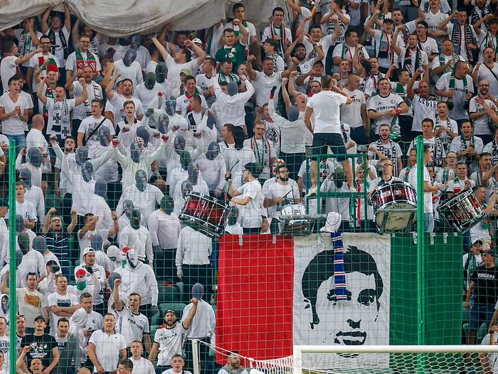 22.08.2019 Legia Warsaw v Rangers: Legia Ultras
