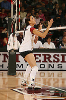 10 November 2005: Jennifer Wilson during Stanford's 3-0 win over Arizona State at Maples Pavilion in Stanford, CA.