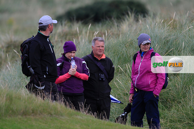 Parents watching on the 9th during Round 2 Foursomes of The Boys Home Internationals at Ballyliffin Golf Club, Ballyliffin Co. Donegal on Wednesday 3rd August 2016.<br /> Picture:  Golffile | Thos Caffrey<br /> <br /> All photos usage must carry mandatory copyright credit   (&copy; Golffile | Thos Caffrey)