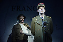 London, UK. 18.02.2016. Bob Benton and Daniel Brodie for DB Productions in association with Park Theatre present the World Premiere of<br /> &quot;The Patriotic Traitor&quot;<br /> written and directed by Jonathan Lynn. Picture shows: James Chalmers, Laurence Fox (Charles de Gaulle). Photograph &copy; Jane Hobson.
