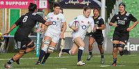Lydia Thompson in action, England Women v New Zealand Women in an Old Mutual Wealth Series, Autumn International match at Twickenham Stoop, Twickenham, England, on 19th November 2016. Full Time score 20-25