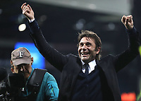 Antonio Conte Chelsea manager celebrates at the end of the Premier League match between WBA and Chelsea played at The Hawthorns Stadium, Birmingham on 12th May 2017 Football - Premier League 2016/17 West Bromwich Albion v Chelsea Hawthorns, The, Birmingham Rd, West Bromwich, United Kingdom 12 May 2017 <br /> Il Chelsea allenato da Antonio Conte vince la Premier League <br /> Foto Bpi/Imago/Insidefoto <br /> ITALY ONLY