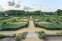 France,  Indre-et-Loire (37), Chançay, jardins du château de Valmer, le potager